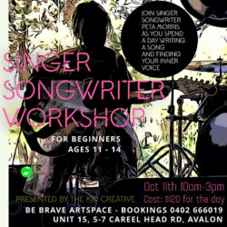 Singer Songwriter Workshop for kids