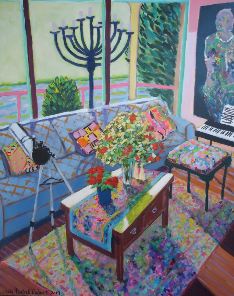Chris' Interior with Wildflowers by Jackie Fewtrell Gobert