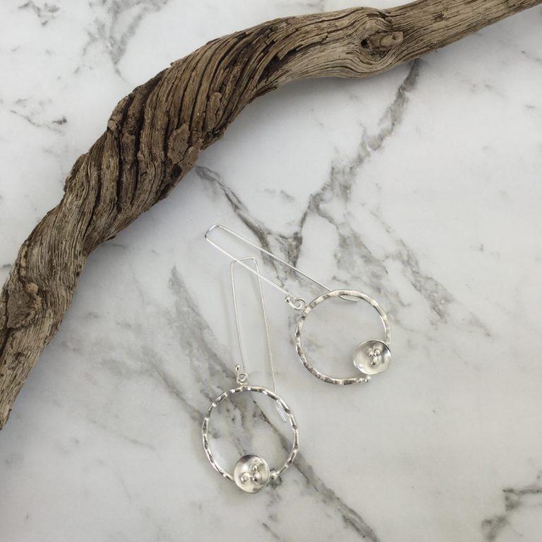 Christine Sadler - Circle Rockpool Earrings