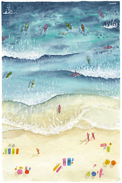 Catherine Atkinson - Manly Beach