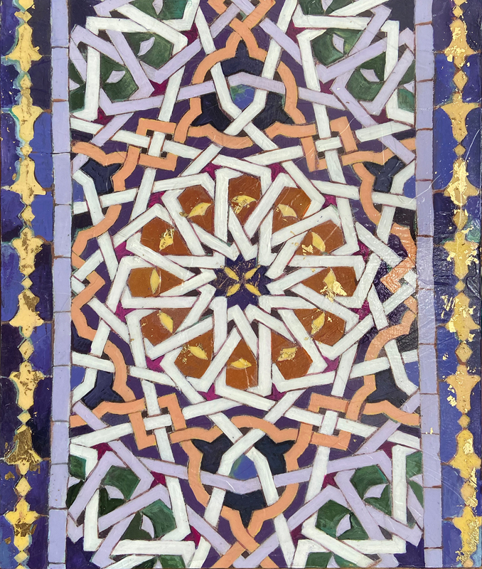 Kathleen Fairweather - Golden Doors - Royal Palace of Fez - Tile detail