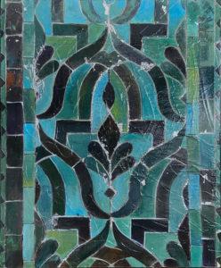 Kathleen Fairweather - Golden Doors - Royal Palace of Fez - Green Tile detail