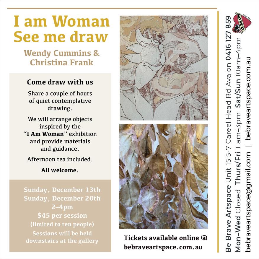 I am woman See me draw - drawing workshop invitation