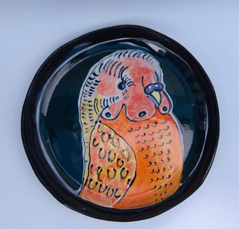 Kara Pryor - Big Budgie Plate