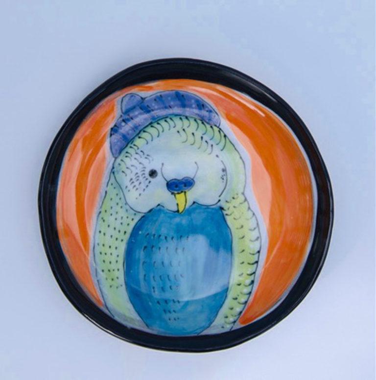 Kara Pryor - Little Poppet Budgie Plate